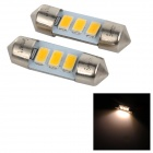 SENCART SV8.5-8 1W 40lm 3500K 5730 SMD LED Warm White Light Car Roof / Reading Lamp (2PCS/DC12~16V)