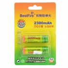 BestFire 1.2V 2150mAh Ni-MH Rechargeable AA Batteries - Green + Blue (2 PCS)