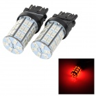 SENCART 3157 10W 25lm 700nm 5730 SMD LED Red Light Car Brake / Steering Lamp (2PCS / DC 12~16V)