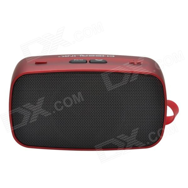 KB-200 Hi-Fi Stereo Mini Wireless Bluetooth V2.0 Speaker w/ Hands-free / FM / TF Function - Red t050 3w mini portable retractable stereo speaker w tf black golden 16gb max
