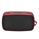 KB-200 Hi-Fi Stereo Mini Wireless Bluetooth V2.0 Speaker w/ Hands-free / FM / TF Function - Red