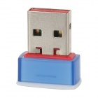 USB 2.0 802.11n 150Mbps Wifi / WLAN Wireless Network Adapter - Blue + Red + Silver