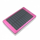 Portable Universal Solar Powered 16000mAh Dual USB Li-polymer Battery Power Bank - Red