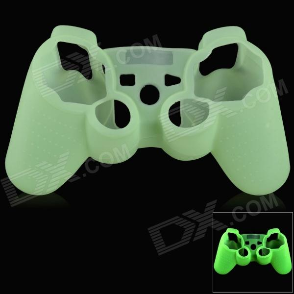 Glow-in-the-Dark Protective Silicone Case for PS3 / PS3 Slim Controller - Green