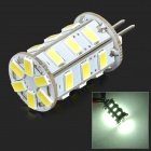 G4 5W 300lm 6500K 24-SMD 5730 LED White Light Lamp - White + Silvery Grey (DC 12V)
