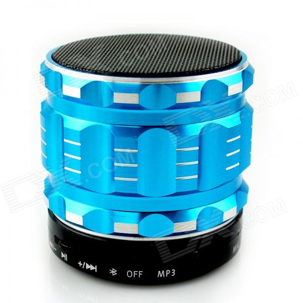 MUSIC S12 Super Mini Bluetooth V3.0 Speaker w/ TF Slot - Cyan + Black