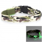 LED Light Outdoor Night Safety Neck Collar for Pet Dog - White + Army Green + Multi-Colored
