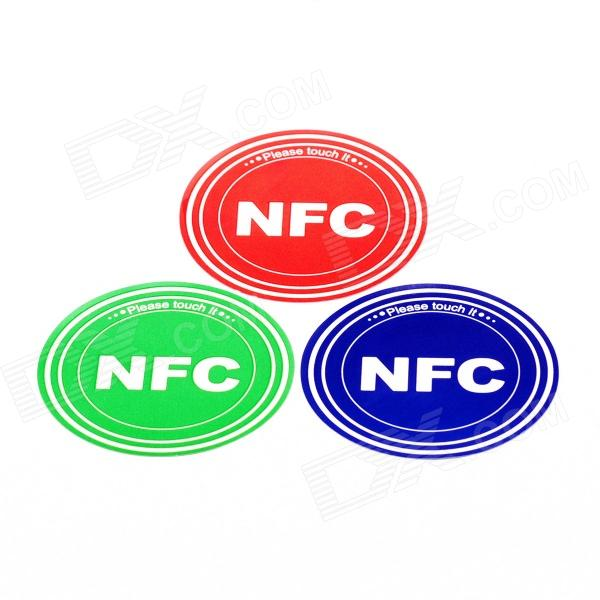 nxp-ntag216-888-bytes-1356mhz-smart-nfc-tags-stickers-set-red-green-blue-3-pcs