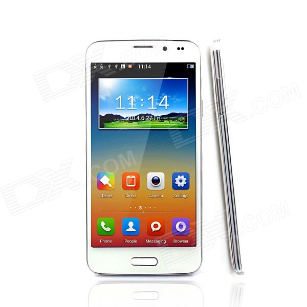 "M50 5.0 "" skjerm MTK6582 Android 4.2 3G Quad - Core- 1.3GHz CPU Bluetooth 5MP Smartphone w / WiFi - Hvit"