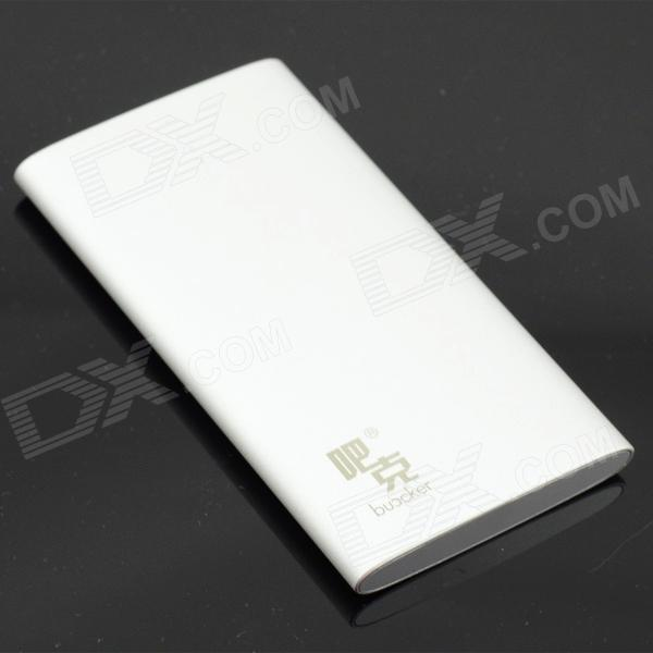 Buccker T16 5V 6800mAh Li-polymer External Battery Charger Power Bank for Cellphone / IPAD - White