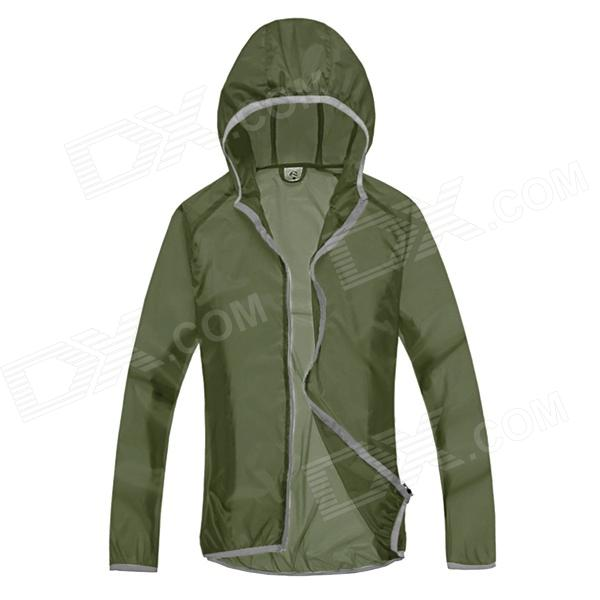 WindTour WT13514 Men's Outdoor Ultra Thin Quick Dry UV Protection Trench Coat - Army Green (XL)