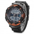 ALIKE AK1386 Water Resistant Rubber Band Analog & Digital Display Quartz Sport Wrist Watch for Men