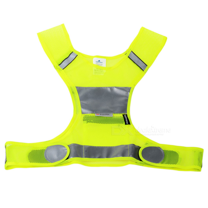 Salzmann 50019 Night Cycling Riding Running Outdoor Sports Reflective Safety Vest - Yellow