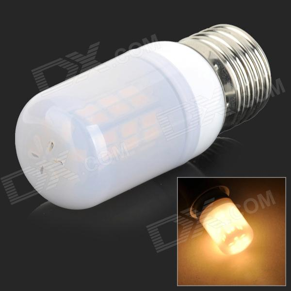 SENCART E27 4W 200lm 3000K 42-SMD 5730 LED Warm White Light Lamp - White + Grey (AC 85~265V)