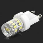 G9 2W 150lm 6500K 27-SMD 3014 LED White Light Lamp - White + Silvery Grey (AC 220V)
