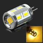 G4 3W 200lm 4000K 12-SMD 5730 LED Warm White Light Lamp - White + Silvery Grey (DC 12V)