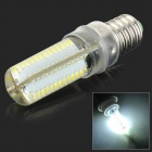 E14 5W 400lm 10000K 104-SMD 3014 LED Cool White Light Lamp - White + Silvery Grey (AC 220V)
