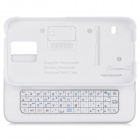 Ultra-thin Bluetooth V3.0 51-Key Keyboard + ABS Case for Samsung Galaxy S5 - White