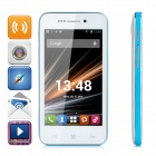 "LKD F23 Android 4.2.2 Dual-core WCDMA Bar Phone w/ 4.0"" Screen, Wi-Fi and GPS - White + Blue"