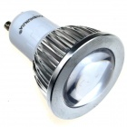 ZHISHUNJIA GU10 3W 180lm 3000K COB Warm White Light Bulb - Silver + White (AC 85~265V)