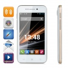 "LKD Android 4.2.2 Dual-core WCDMA Bar Phone w/ 4.0"" Screen, Wi-Fi and GPS - White + Golden"