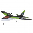 Dolphin-9101 2-CH Remote Control EPP Airplane Glider Model Toy - Green + Black