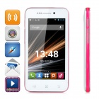 "LKD F23 Android 4.2.2 Dual-core WCDMA Bar Phone w/ 4.0"" Screen, Wi-Fi and GPS - White + Deep Pink"