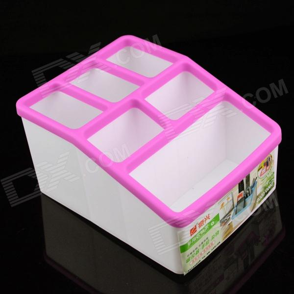 CH8866 Mini PP Resin 7-cubicle Storage Box - Pink + White Pueblo Продажа б у товаров