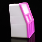CH8866 Mini PP Resin 7-cubicle Storage Box - Pink + White
