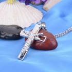 KCCHSTAR Cross Style 316L Stainless Steel Pendant Necklace - Silver