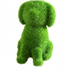 Creative Furnishing Artificial Grass Patterned Puppy Soft Doll Toy - Grass Green