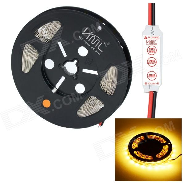 HML Non-Waterproof 72W 5000lm 3300K 300 x SMD 5630 LED Warm White Light LED Strip w/ Mini Controller цена