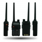 "TONFA 985-UV 8W 1.5"" Dual-Display Dual-Band FM Transceiver Walkie Talkie - preto"