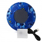 BTS-06 Ocean Style Bathroom Water Resistant Suction Cup Bluetooth V3.0 Speaker w/ Mic. - Blue