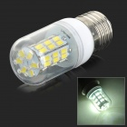 SENCART E27 4W 200lm 6000K 42-SMD 5730 LED White Light Lamp - White + Transparent (AC 85~265V)