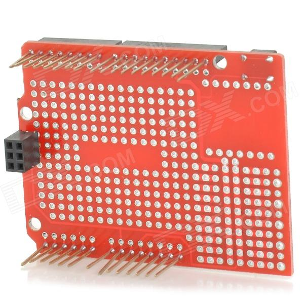 KEYES Expansion Board for Arduino Proto Shield UNO R3 - Red (Works with Official Arduino Boards)