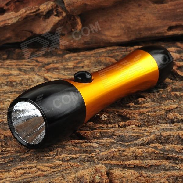 Mini Aluminum LED 200lm Flashlight w/ Charger / 1 x 14500 / 1 x AA Battery