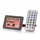 "5"" 15W MP3 Card Music Player Module w/ Remote Control - Red + Black"