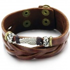 Men's Stylish PU Leather Bracelet - Brown