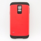 Luxury Armor Protective TPU + PC Back Case for Samsung Galaxy S5 - Black and Red