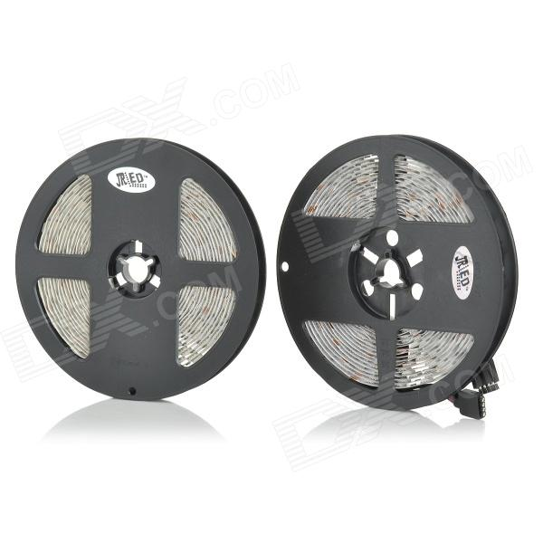 JRLED 144W 7200lm 300-SMD 5050 LED RGB Light Strips - Black + White (DC 12V / 5M / 2 PCS) free shipping hot selling 1m pcs led aluminum profile for led strips with milky or clear cover and end caps clips