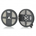 JRLED 144W 7200lm 300-SMD 5050 LED RGB Light Strips - Black + White (DC 12V / 5M / 2 PCS)