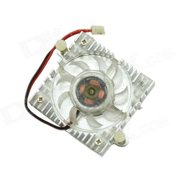 MaiTech DC 12V 0.1A Laptop Miniature Cooling Fan - Silver free shipping emacro sf6023rh12 52a dc 12v 170ma 3 wire 3 pin connector 100mm 60x60x25mm server blower cooling fan