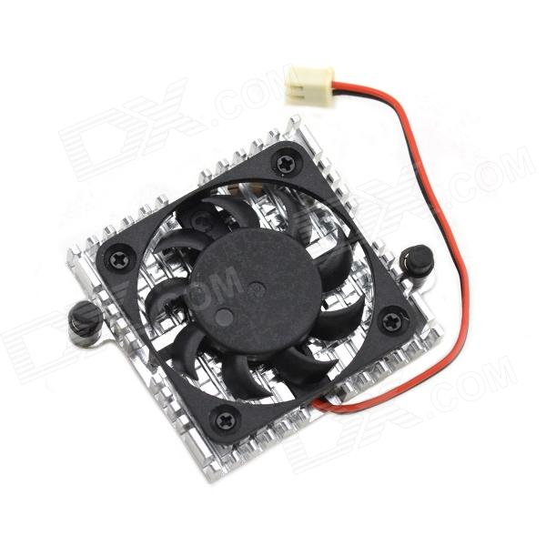 MaiTech DC 12V 0.1A Miniature Cooling Fan - Silver + Black free shipping emacro sf6023rh12 52a dc 12v 170ma 3 wire 3 pin connector 100mm 60x60x25mm server blower cooling fan