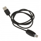 High Speed USB 2.0 Data / Charging Cable w/ LED Light - Black (100cm)