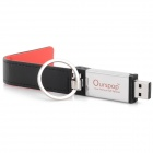 Ourspop U611 Stylish PU Leather Cover USB 2.0 Flash Drive w/ Keychain - Black + Red (64GB)