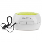 HY WB-018 Universal Bluetooth V2.0 Handsfree Speaker - White + Green