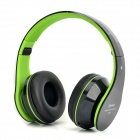 AITA AT-BT809 Bluetooth V2.1 Headband Headphone w/ Microphone / TF - Black + Jade Green