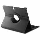 360' Rotary Stylish Flip Open PU Case w/ Stand for 10.5'' Samsung Galaxy S T800 / 801 / 805 - Black