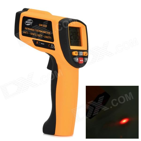 BENETECH GM1850 Infrared Temperature Measuring Thermometer - Orange + Black (1 x 9V) benetech gm320 1 2 lcd infrared temperature tester thermometer orange black 2 x aaa